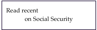 Read recent news and opinions on Social Security